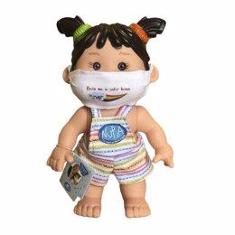 Muñeca de Nupa con mascarilla por el COVID-19