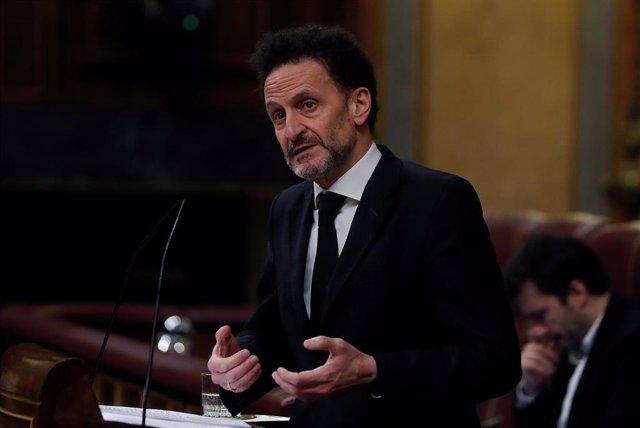 El portavoz adjunto de Ciudadanos en el Congreso de los Diputados, Edmundo Bal, durante intervención en el Pleno de la Cámara Baja.