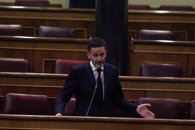 El diputado de Ciudadanos, Edmundo Bal, interviene durante el pleno del Congreso que debate este miércoles la quinta prórroga del estado de alarma