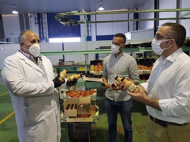 Sevilla.-Sector tomate palaciego ve salida en industria de gazpachos ante caída