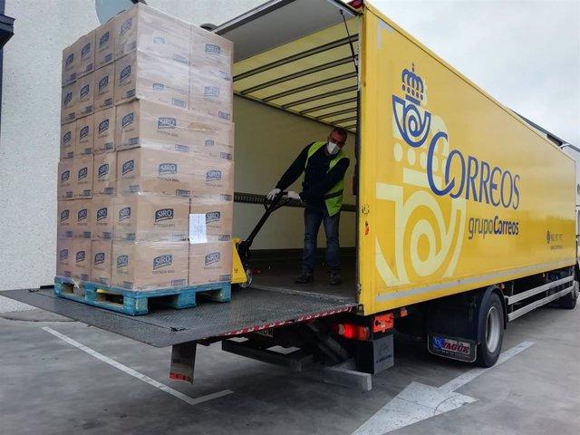 Correos y Mercasa colaboran con el reparto de comida donada a Bancos de Alimentos