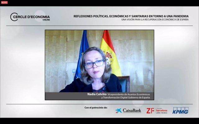 La vicepresidenta tercera del Gobierno y ministra de Asuntos Económicos y para la Transformación Digital, Nadia Calviño