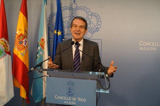 Rueda de prensa telemática de Abel Caballero, alcalde de Vigo y presidente de la FEMP.