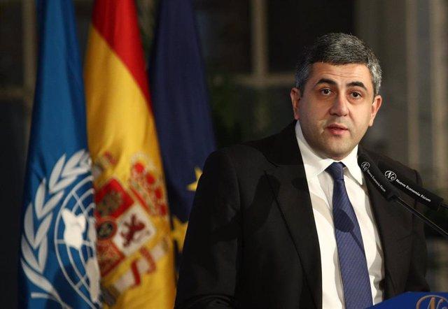 El secretario general de la Organización Mundial del Turismo (OMT), Zurab Pololikashvili.