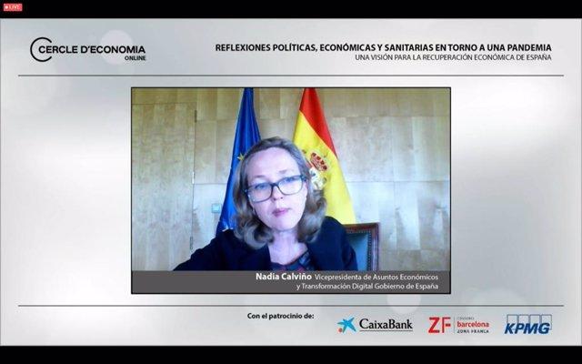 La vicepresidenta tercera del Govern i ministra d'Assumptes Econòmics i per a la Transformació Digital, Nadia Calviño