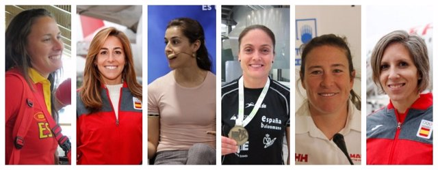 Liliana Fernández, María López, Carolina Marín, Silvia Navarro, Tamara Echegoyen y Teresa Portela