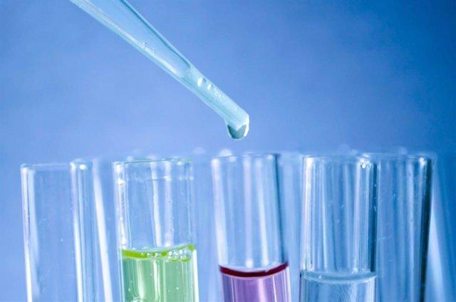 Probeta, ensayo, investigación, laboratorio