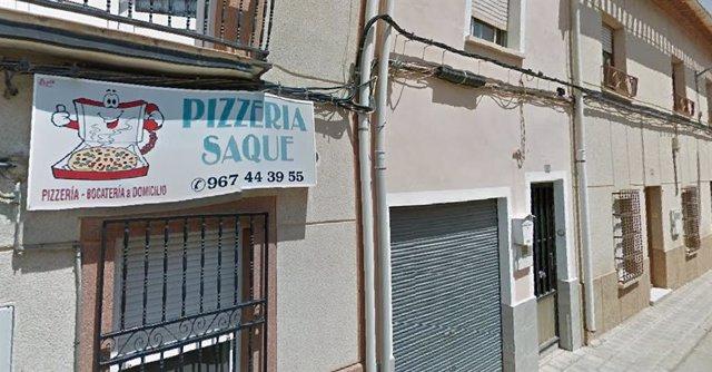Pizzería de La Roda donde una mujer resultó herida en un incendio