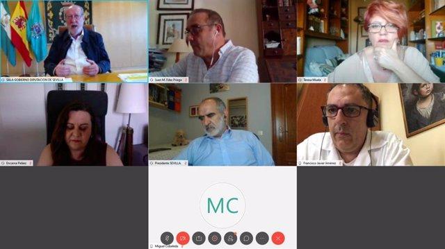 Reunión de trabajo telemática entre la Federación Andaluza de Municipios y Provincias (FAMP) y el Consejo Andaluz de Trabajo Social.