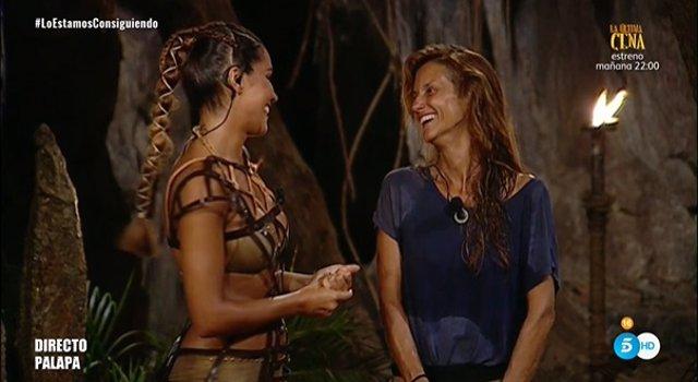 Lara Álvarez se despide de Elena tras ser expulsada