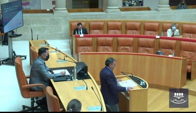 El consejero de Desarrollo Autonómico, José Ignacio Castresana, comparece en el Parlamento