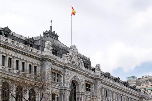 Fachada del Banco de España en su sede de Madrid.