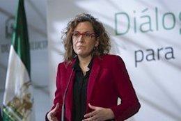 La secretaria general de CCOO-A, Nuria López, en una imagen de archivo.