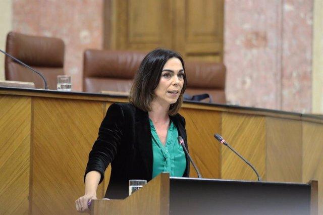 La secretaria del grupo parlamentario de Ciudadanos (Cs) y portavoz de Cs en la Comisión de Igualdad y Políticas Sociales, Teresa Pardo.