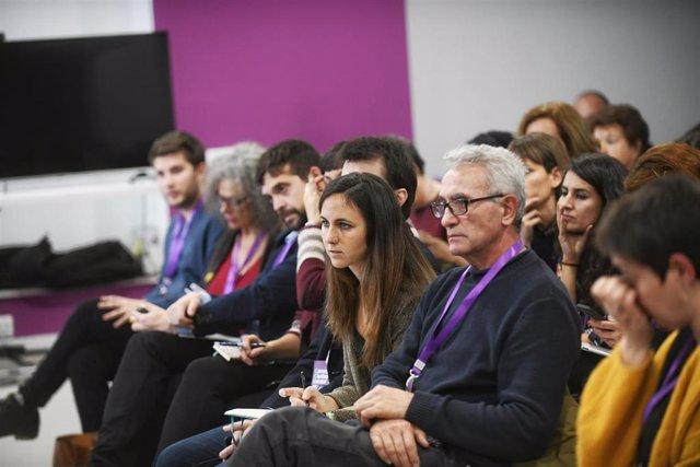 Ione Belarra y Diego Cañamero en el Consejo Ciudadano Estatal de Podemos (Foto de archivo).