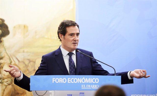 El president de la patronal CEOE, Antonio Garamendi
