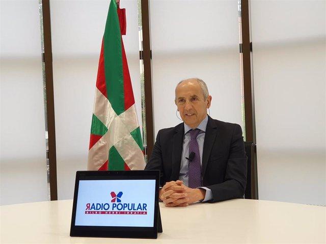 El portavoz del Gobierno Vasco, Josu Erkoreka, en Radio Popular