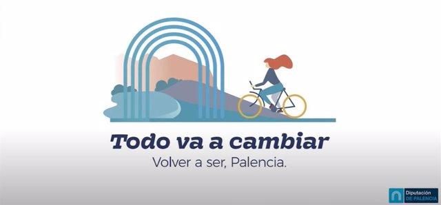 Cartel de la campaña de promoción del turismo en la provincia de Palencia.