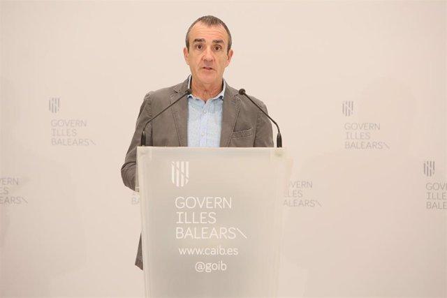 El conseller de Transición Energética y Sectores Productivos, Juan Pedro Yllanes.