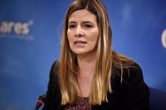 La secretaria general del PP en Castilla-La Mancha, Carolina Agudo, en rueda de prensa