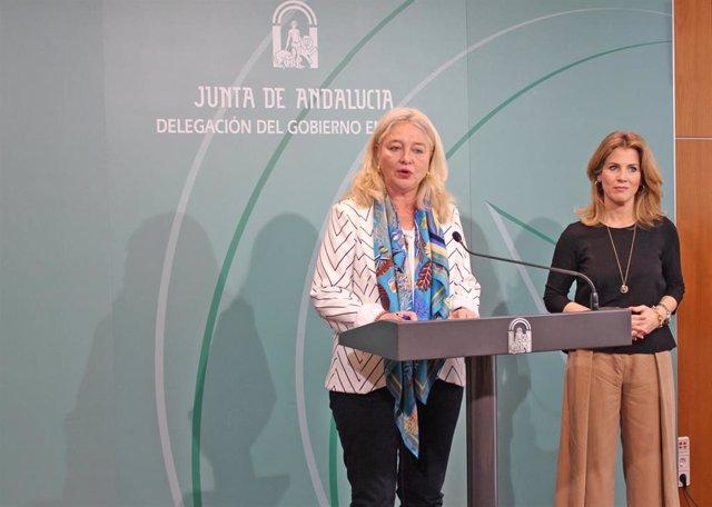 Mercedes Colombo en rueda de prensa