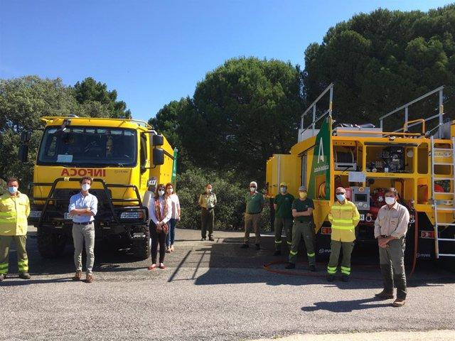 Córdoba.- La Junta dota a Córdoba de dos nuevos vehículos autobomba para la exti