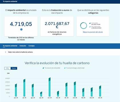 BBVA lanza una herramienta para ayudar a sus empresas clientes a calcular su huella de carbono