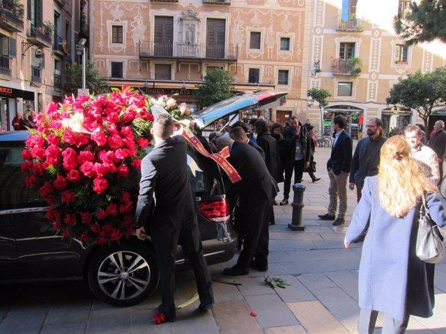 Funeral del filòleg i lingüista Antoni Maria Badia i Margarit (arxiu)