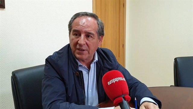 El presidente de la patronal regional, Ángel Nicolás.