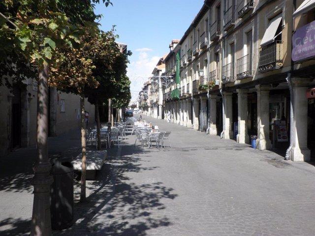 Imagen de terrazas en la localidad de Alcalá de Henares.