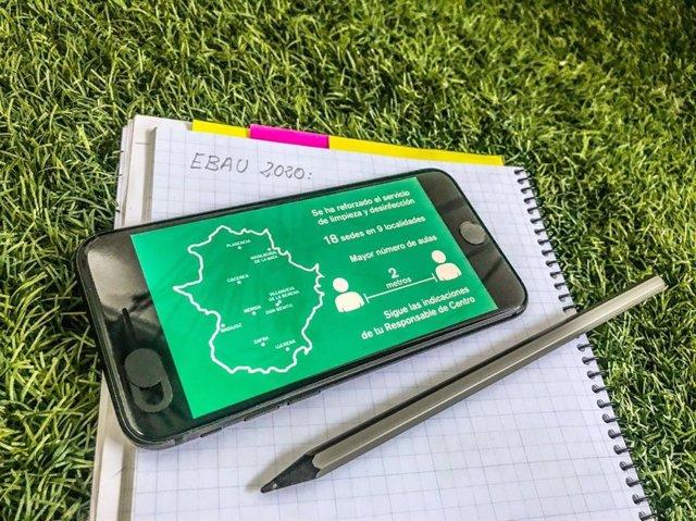 Pruebas EBAU 2020 en Extremadura