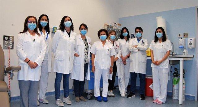 Parte do equipo de Pneumoloxía do Hospital Álvaro Cunqueiro de Vigo.