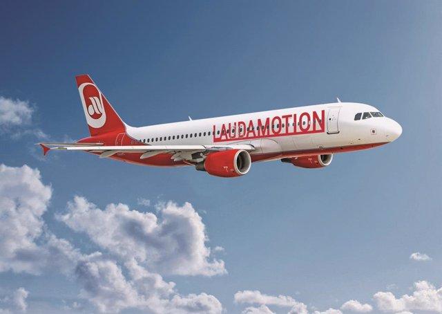 Avión de Laudamotion.