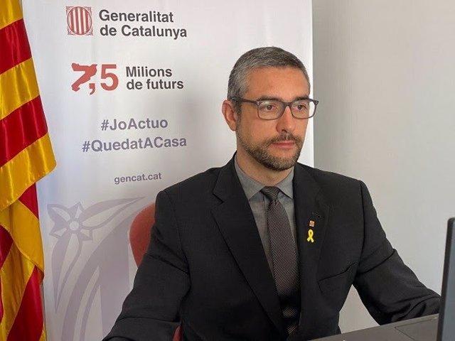 El conseller de Acción Exterior de la Generalitat, Bernat Solé, en una imagen de archivo.
