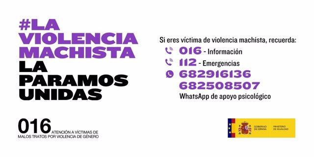 Cartel de la campaña de sensibilización #LaViolenciaMachistaLaParamosUnidas, impulsada por el Ministerio de Igualdad contra la Violencia De Género