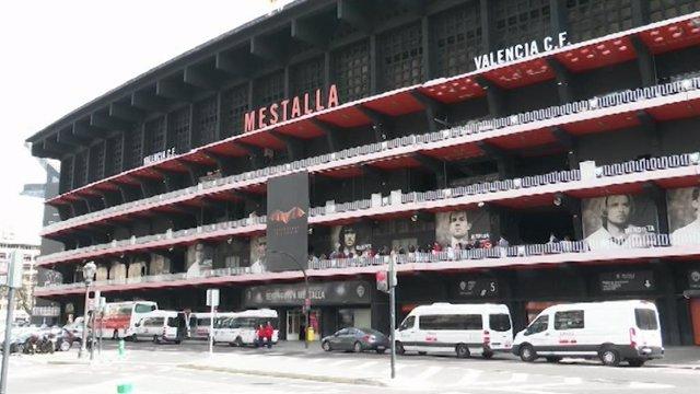 Fútbol.- Mestalla abrirá la próxima semana como centro de distribución de alimen