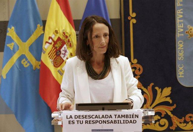 La portavoz del Gobierno y consejera de Derechos Sociales y Bienestar, Melania Álvarez.