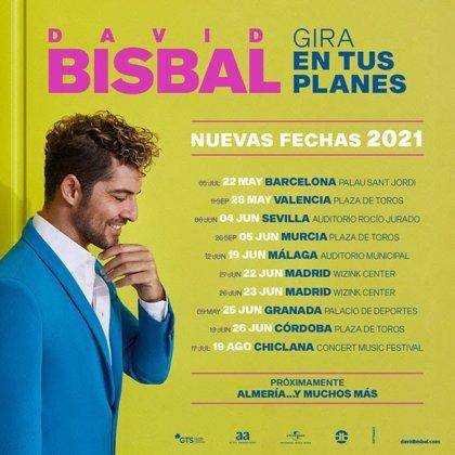 David Bisbal pospone su gira hasta 2021