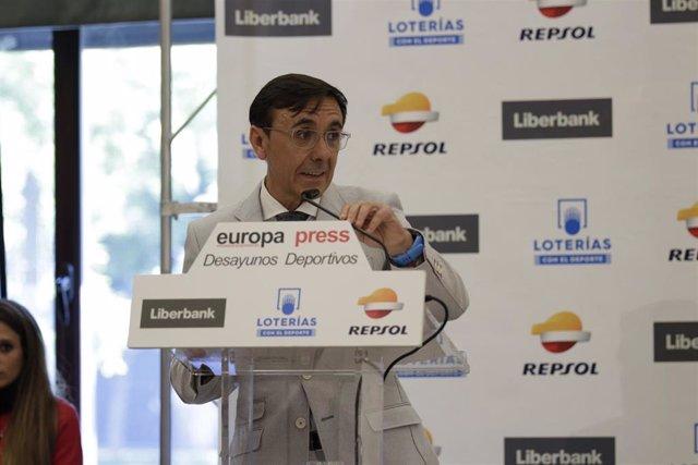 José Hidalgo en los Desayunos Deportivos de Europa Press