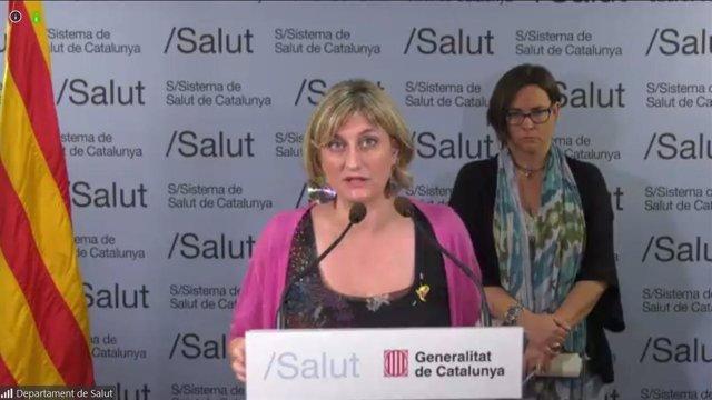 La consellera de Salud, Alba Vergés, durante la rueda de prensa de este viernes 22 de mayo del 2020