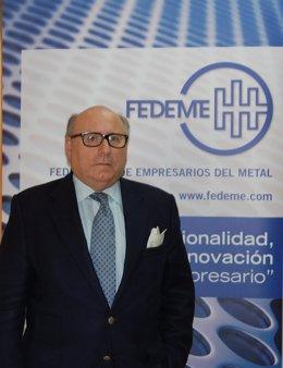 El presidente de Fedeme (Federación de Empresarios del Metal), Francisco Javier Moreno Muruve.