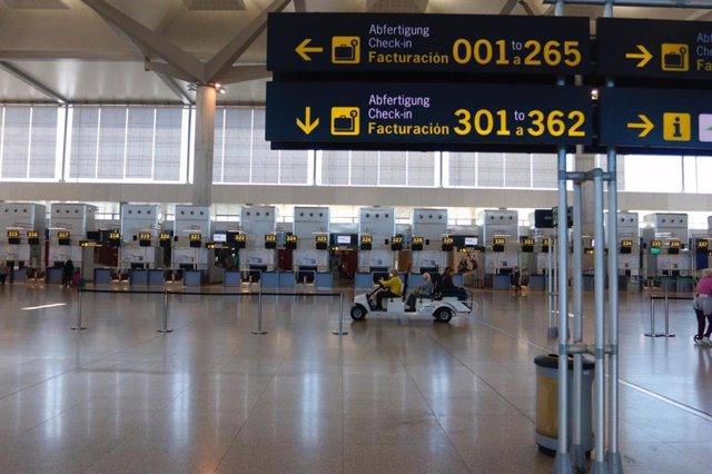 Aeropuerto de Málaga marzo de 2020