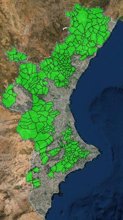 Estas son las 288 localidades valencianas de menos de 10.001 habitantes que podrán adelantar medidas de la fase 2