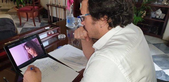 El alcalde de Cádiz, José María González, en una reunión telemática