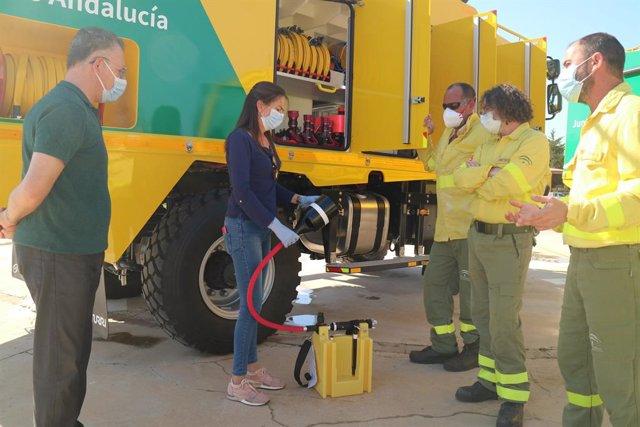 Almería.- El Plan Infoca incorpora este año tres nuevos camiones autobomba en Al