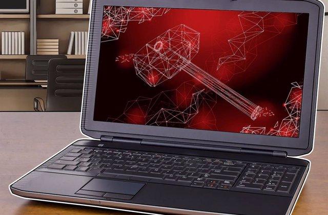 Ordenador portátil, ciberseguridad, imagen de recurso