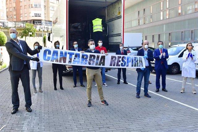 Proyecto de crowdfunding 'Cantabria Respira', en el que ha participado el Banco Santander