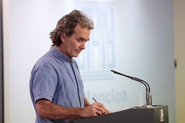 El director del Centro de Coordinación de Alertas y Emergencias Sanitarias, Fernando Simón, durante una rueda de prensa para actualizar los datos sanitarios en referencia a la crisis del Covid-19, en Madrid (España) a 18 de mayo de 2020.