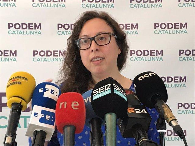 Noelia Bail (Podem Catalunya), en una imagen de archivo.