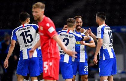 El Hertha golea en el derbi de Berlín